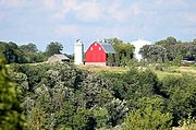 Red Barn and Silo in Chaska