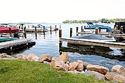 Motorboats Moored in Excelsior Bay, Lake Minnetonka