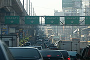 Traffic on the Freeway into Makati, Manila