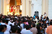 Beginning of Good Friday Parade, Vigan, Philippines