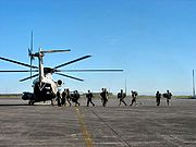 Marines Boarding a CH-53 Sea Stallion, Clark Air Base, the Philippines