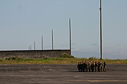 Marines on the Tarmac of Clark Air Base, the Philippines