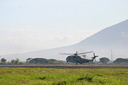 Sea Stallion Helicopter Taking off, Clark Air Base