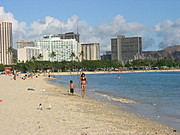 Beach in Honolulu, Hawaii