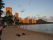Honolulu Beach at Dusk