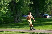 Roller-blader at Lake Harriet