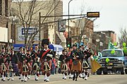 Bagpipers in the St. Patrick's Day Parade, New Richmond, WI