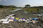 Clothes Drying on the Badoc Riverbed
