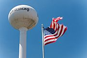 New Richmond Water Tower and Flag
