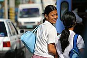 Filipina Student on the Street, Angeles City