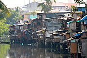 Shanties on the Pasig River, Manila