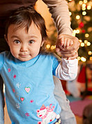 Toddler Athena on Christmas, 2009