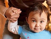 Toddler Athena on Christmas