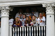 Sorority Girls in a Frat House Balcony