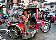 Woman in Trike, Vigan, the Philippines