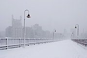 The Minneapolis Stone Arch Bridge in Winter