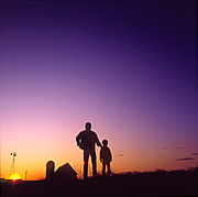 Farmer and Son (Silhouette)