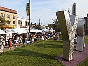 The Uptown Art Fair from the Walker Library Plaza