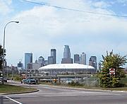 The Metrodome from Cedar Avenue