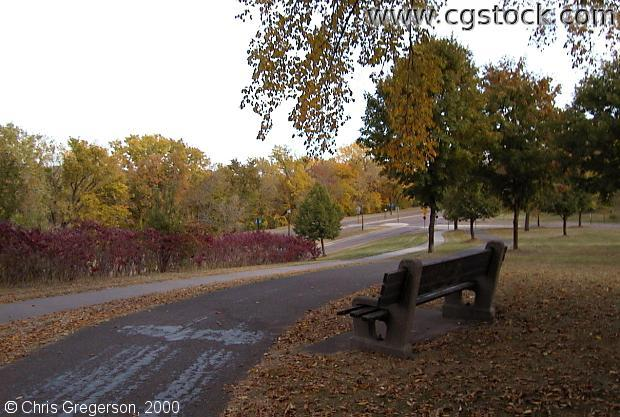 Bench at West River Parkway and Franklin