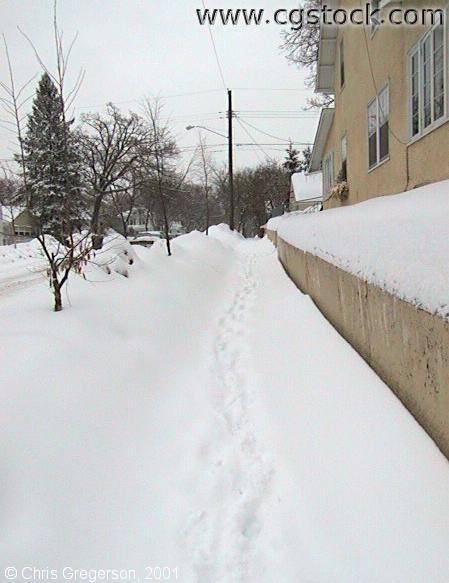 45th Street Sidewalk in Winter