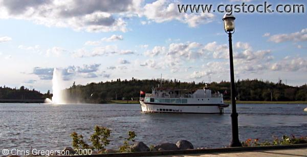 Ship on Lake of the Woods in Kenora, Ontario