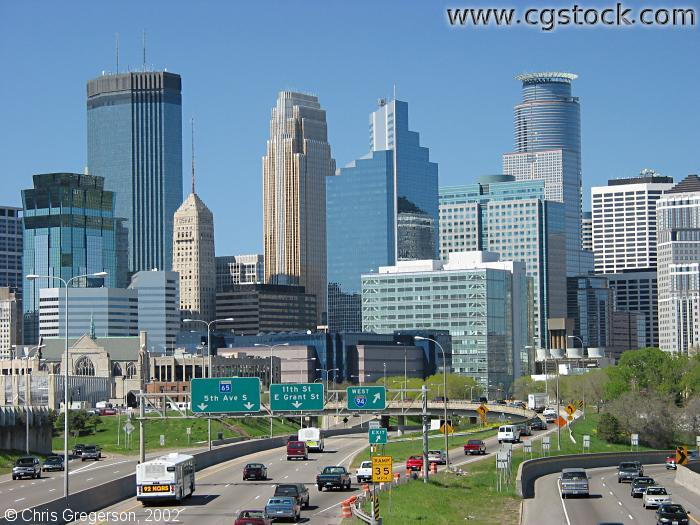 Closeup of the Downtown Minneapolis Skyline