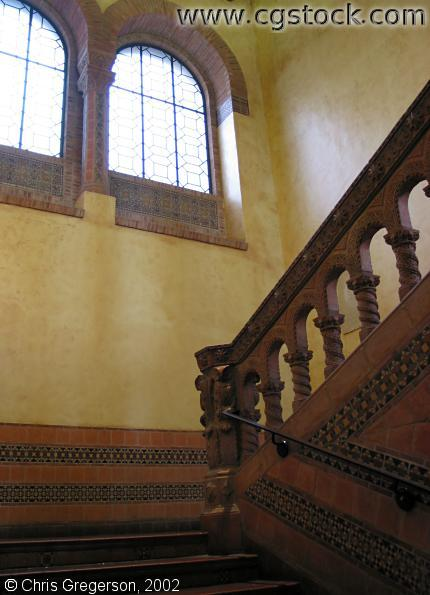 Stairway at Powell Library