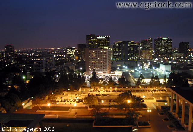 UCLA and Westwood Village at Night