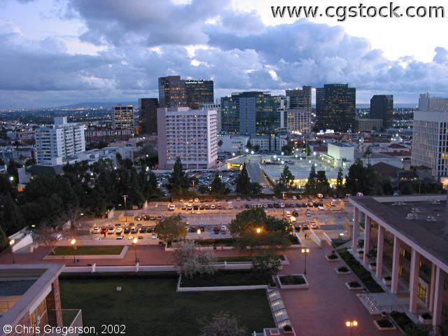 CHS Plaza and Westwood Village at Dusk