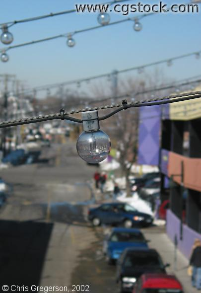 Lightbulb Hanging over Girard Avenue