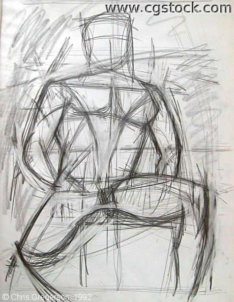 Abstract Male Figure