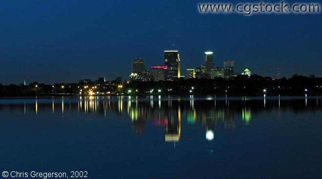Skyline from Lake Harriet at Night