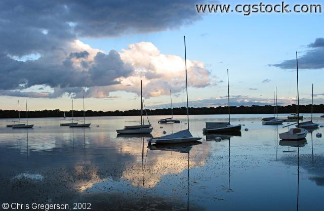 Lake Harriet with Sailboats and Stormclouds