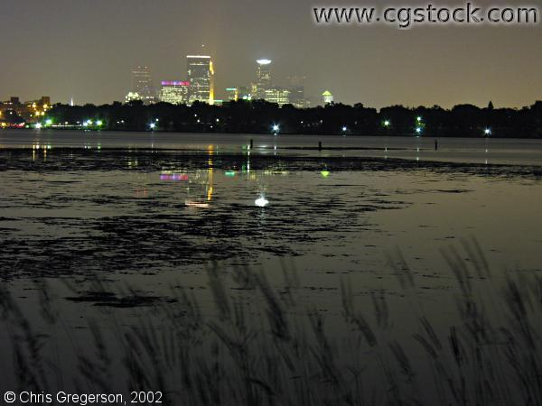 Lake Calhoun and Skyline at Night