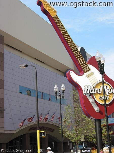 Hard Rock Sign and Target Center