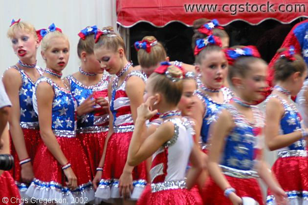 Young Girls in Dance Talent Contest