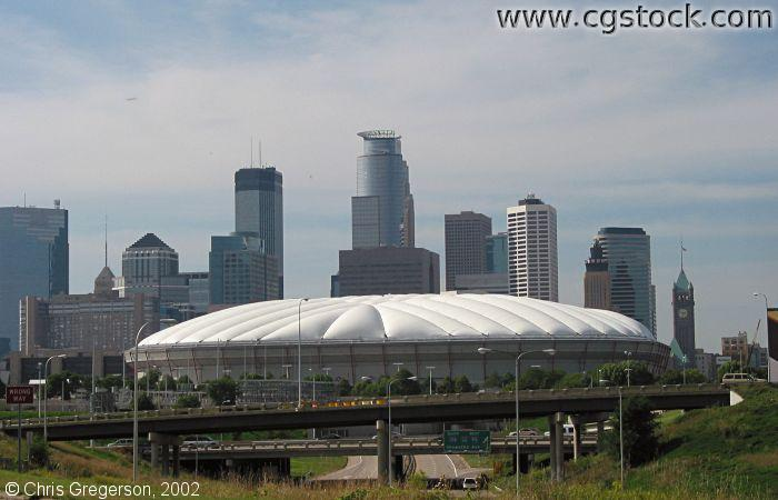 HHH Metrodome and the Downtown Skyline