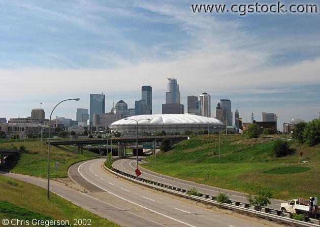 Washington Avenue, Metrodome, and Skyline