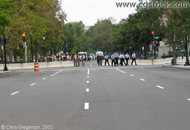 Police and Barricade in Washington, D.C.