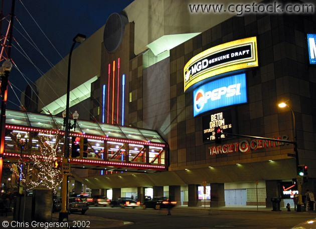Target Center at Night