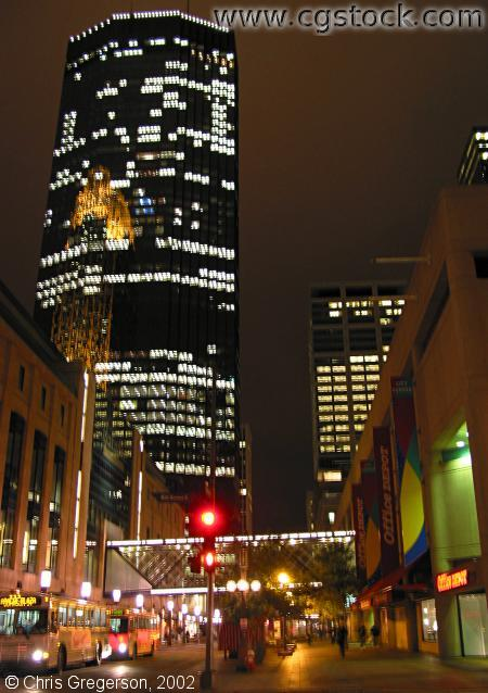 IDS and Nicollet Mall at Night
