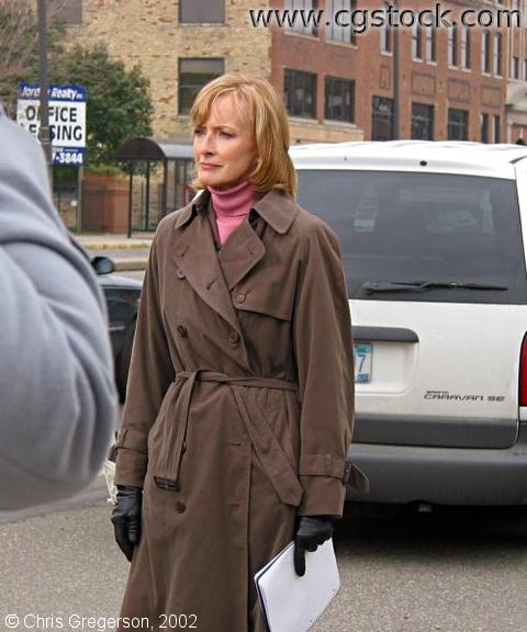 Reporter Judy Woodruff in St. Paul
