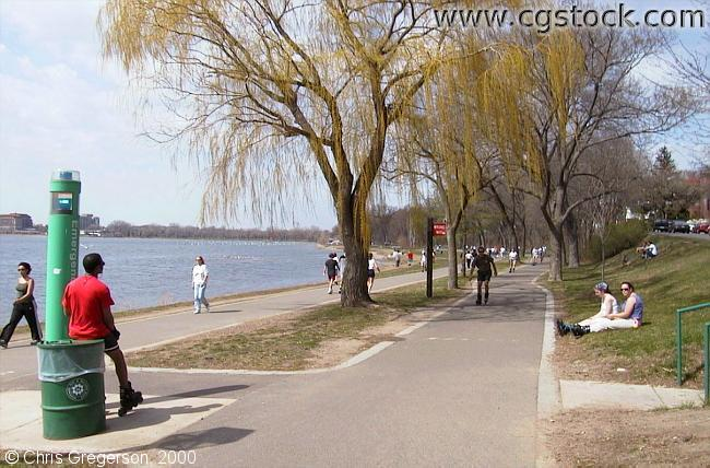 Lake Calhoun Bike Path by 35th Street