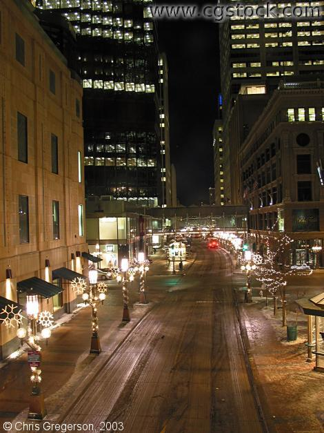 Nicollet Mall from 7th Street at Night