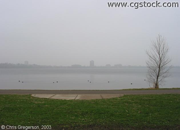 Lake Calhoun in Spring Fog