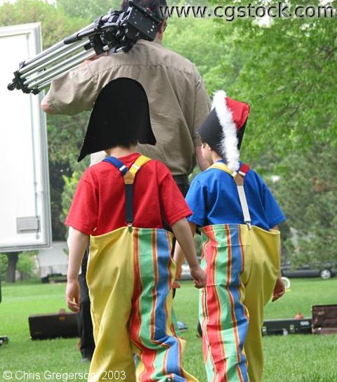 Boys in Costume at Linden Hills Park