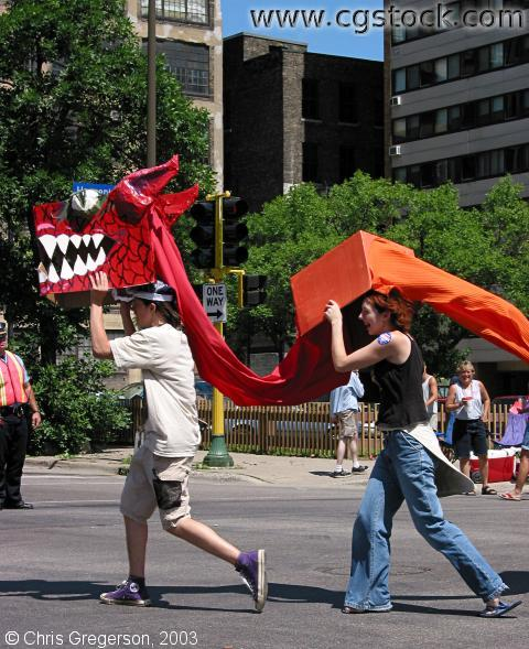 Dragon in the Pride Parade