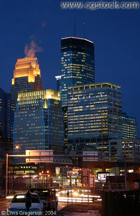 Downtown Minneapolis at Night