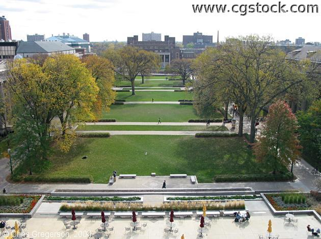 Northrop Mall from Overhead